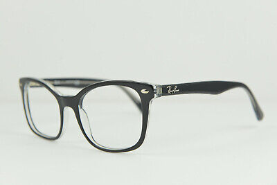 74203e63d0 RAY-BAN EYEGLASSES GLASSES frame RB 5285 2034 53-19 145 black clear ...