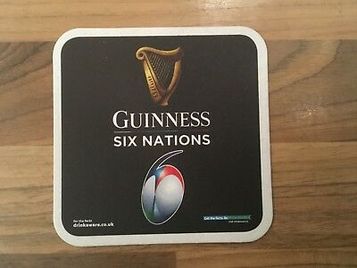 Guinness 2019 Six Nations Beer Mat Coaster