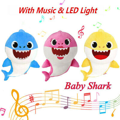 Baby Shark Plush Singing Soft Toys Music Doll English Song Gift for kids 2019