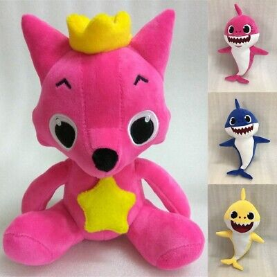 Cute PinkFong Family Baby Shark Fox Toys Plush Soft Dolls Stuffed Toy Kids Gifts