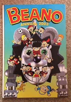 The Beano Annual 2003 Dennis The Menace Gnasher Minnie Minx Hardback Collectable