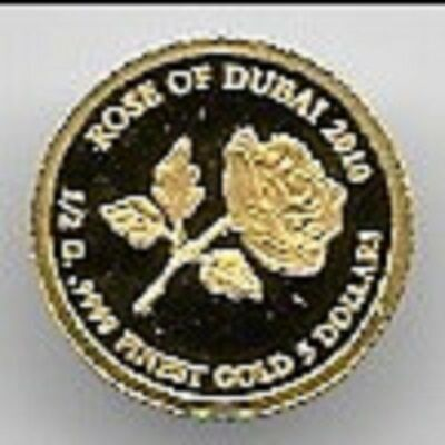 5 Dollar Cook Islands Rose von Dubai 2010 .9999 Gold