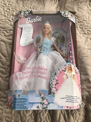 2000 Barbie Doll Princess Bride. Some Damage To Box But Doll Never Taken Out