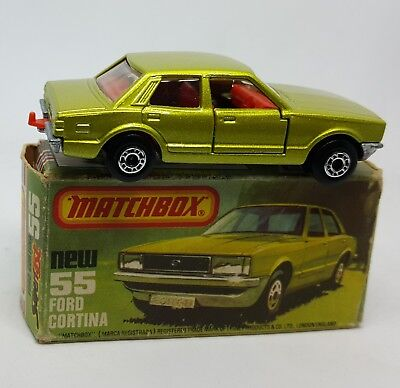 Matchbox Superfast No 55 Ford Cortina Mint in Very Good box