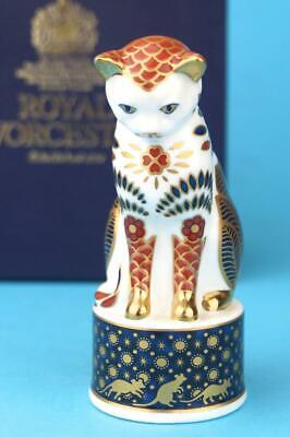 Royal Worcester IMARI NELSON CAT Connoisseur CANDLE SNUFFER   Boxed  EXCELLENT