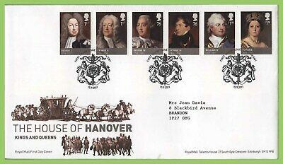G.B. 2011 House of Hanover set on Royal Mail First Day Cover, London SW1