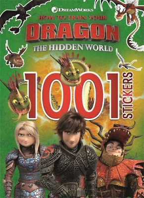 How To Train Your Dragon The Hidden World: 1001 Stickers (UK IMPORT) BOOK NEW