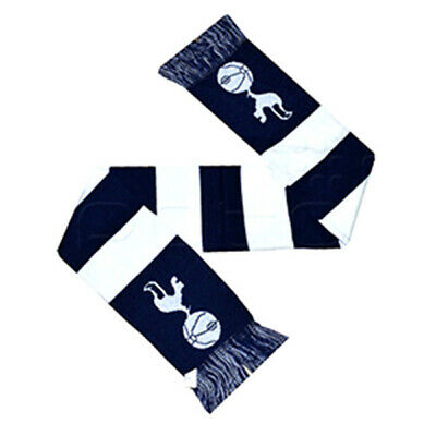Official Tottenham Hotspurs Football Club Crest Colours Blue And White Bar Scarf