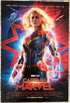 Captain Marvel | original DS movie poster 27x40 INTL | Avengers Brie Larson F