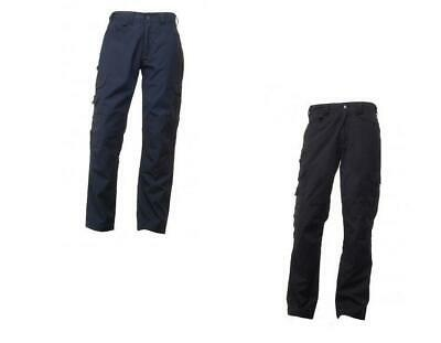 Regatta Mens Navy Black Premium Cargo Workwear Trousers TRJ325