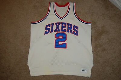 d660c6b3a switzerland moses malone philadelphia 76ers medalist sandknit jersey vtg  sixers nba size 48 bfb2e e691a