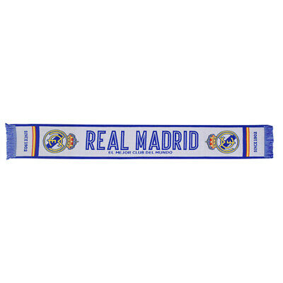 Official Real Madrid Football Club Crest Colours White Named Design Scarf