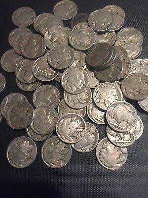 Lot of 20 Buffalo nickels partial dates 1920's 30's Buy It Now $9.95  Free Ship