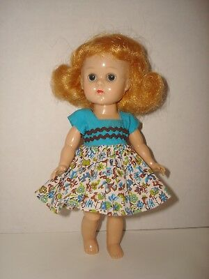 Vtg 1950's Ginny Vogue Doll Dress/Undies Fit Madame Alexander/Muffie/Ginger/8""