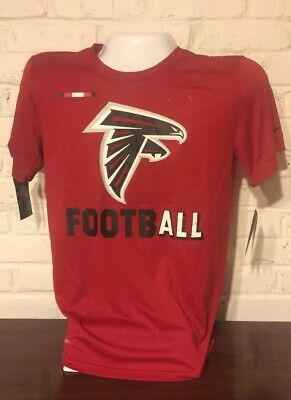 NIKE ATLANTA FALCONS NFL SIDELINE LEGEND STAFF DRI FIT PERFORMANCE SHIRT L-XL