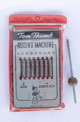 Vintage Tom Thumb Adding Machine Works Great