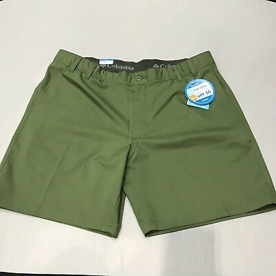 Columbia NWT Mens Stay Cool Coil Flex Shorts UPF 50 Size 42