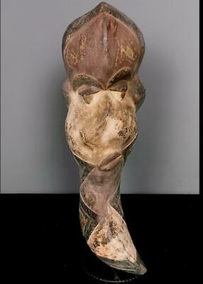 Outstanding Tribal Pende Deformed Mouth   Mask        --  Congo