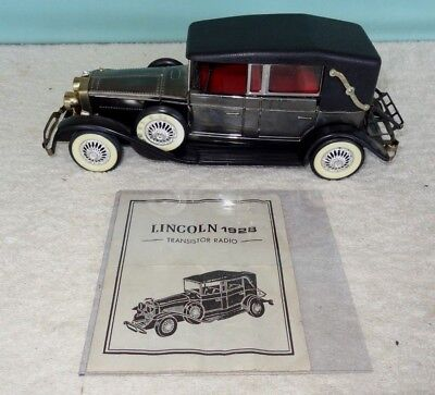 VINTAGE Lincoln Model Car - Vintage 1928 Transistor AM Radio Collectible