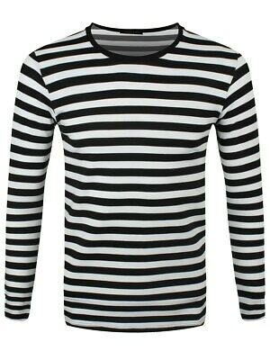 Striped Black and White Long Sleeved T-Shirt