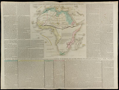 1830ca - Large map geographical Africa - Lesage - Engraving antique