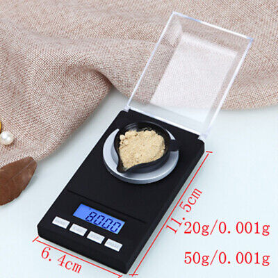 Weight Jewelry Scale Gram 20g/50g AAA batteries Accuracy 0.001g Durable Useful
