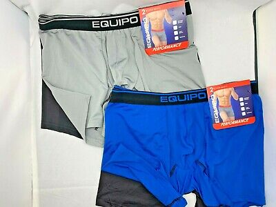 58b7a6c44564 4 EQUIPO $48 PERFORMANCE SPORT MESH BOXER BRIEFS Underwear Men Medium M 32  34