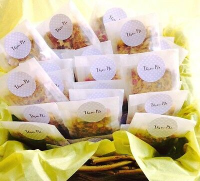 Biodegradable Wedding Flower Confetti Natural Dried Petal 120 Glassine bags