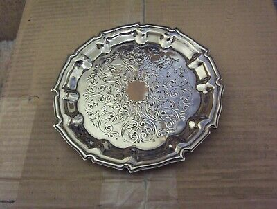 Vintage Cavalier Silver Plate Wine Bottle Plate Tray Platter Stand