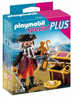 PLAYMOBIL pirate 4783 Barbe Grise avec coffre NEUF
