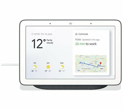 Google Home Hub Smart Assistant Speaker - Charcoal (Dark Grey, Black) #J02