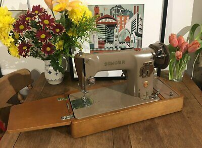Singer 201K Electric Semi Industrial Sewing Machine Heavy Duty Leather Canvas
