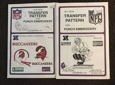 2 NFL Pretty Punch Embroidery Patterns - Buccaneers