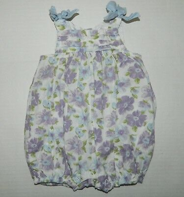 f0fadaf8f56 JANIE AND JACK 0-3 Bubble Romper Blue   Pink Rare So Cute! Euc ...