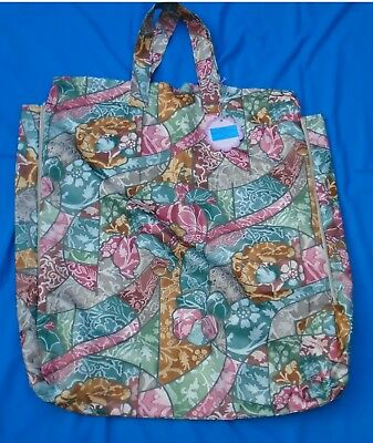 Shoulder Pillow Bag For 24 Pillow   2 Zip  Side Gussets  Abstract Quality Mat.