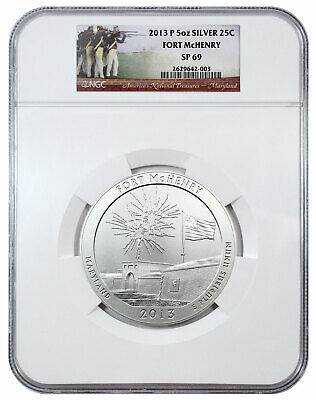 2013 P 25c 5 oz ATB Silver America Beautiful Fort McHenry NGC SP69 SKU44025