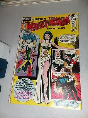 Wonder Woman #197 dc comics 1971 48 pg giant issue dr cyber 1st print bronze age