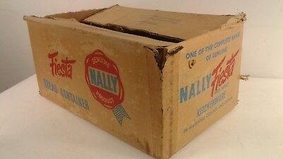 Vintage/Retro Nally ware bread bin/canister/container empty box/packaging