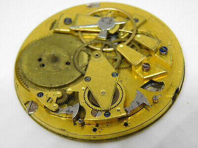 Antique Repeating Repeater Pocket Watch Movement For Spare Parts