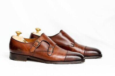 Edward Green Westminster Double Monk Dark Oak Antique shoes UK 8 / US 8.5