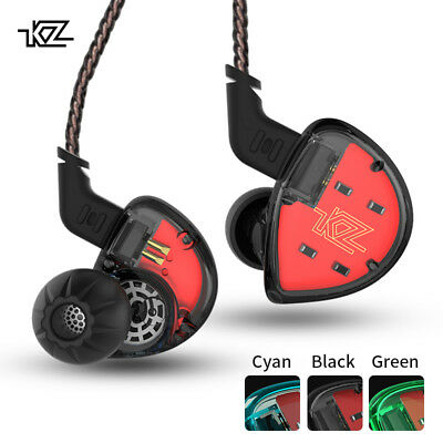 KZ In Ear Dynamic Hybrid Headset Earbuds HiFi Bass  Ear Hooks Sport Headphones