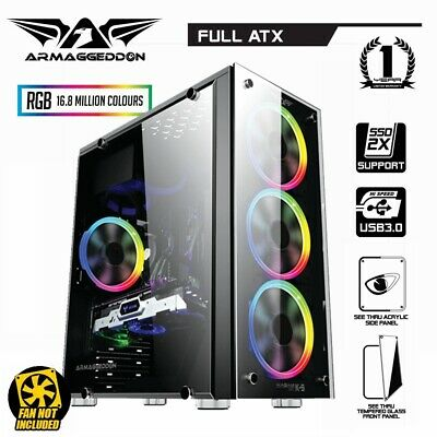 PC Case Gaming Tower Armaggeddon Kagami K-5 Computer Case Audio RGB Full ATX