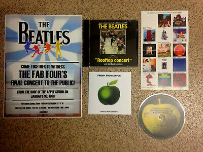 The Beatles-Final Live Gig (Apple Studios/Rooftop) Rare Cd +Concert Poster ⭐⭐⭐⭐⭐
