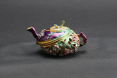exquisite hand carved  Cloisonne Inlaid diamond teapot ar552