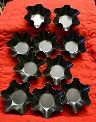 10 Taco Bowls Tortilla Shell Molds - Baked - Non-stick - NEW - dishwasher safe