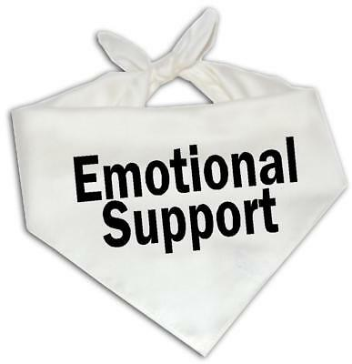 Emotional Support - Dog Bandana One Size Fits Most Therapy Service Animal Gift