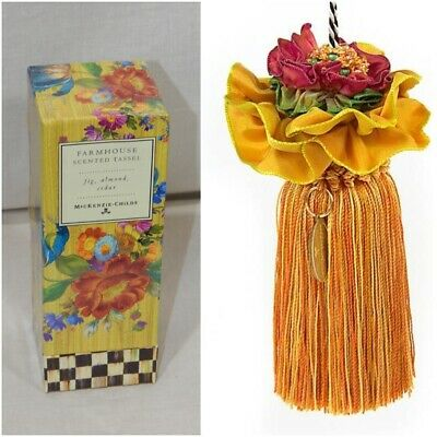 Mackenzie-Childs New Farmhouse Scented Tassel Fig Almond Cedar New In Box Wow