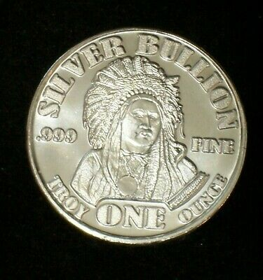 1 oz Silver Indian Chief/Buffalo Round RARE - Hard to Find