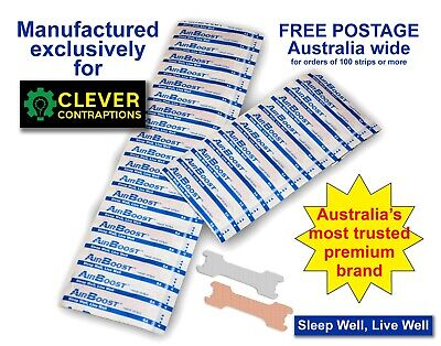 AirBoost Nasal Strips 300 Medium Size Anti Snore by Clever Contraptions