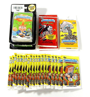 Lot of (31) 2016 2018 Topps Garbage Pail Kids Prime Slime Horror-ible '80s Packs